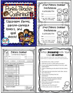 Parent Teacher Conference MEGA pack! Everything I need to make my life easier. Just print and go! $  #conferences #parentteacherconferences #printandgo