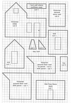 Victorian gingerbread house template. Then search for graph paper to print for your template.