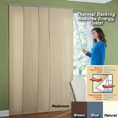 Merveilleux Insulated Sliding Curtain Panels Available At Fresh Finds. The Easy Way To  Insulate Patio Windows And Sliding Doors! Browse Our Other New U0026 Seasonal  ...