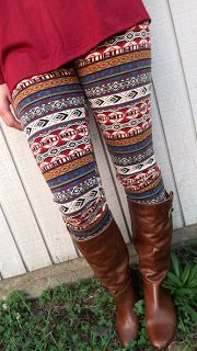 Ethnic Print Leggings, love it or leave it? How To Wear Leggings, Cute Leggings, Tops For Leggings, Tight Leggings, Printed Leggings, Leggings Style, Tribal Leggings, Patterned Leggings, Leggings Fashion