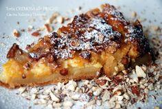 Torta cremosa alla peschenoci: un dessert semplice e veloce, ideale per un fine pranzo estivo.
