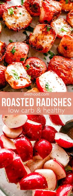 Colorful, crisp Roasted Radishes are caramelized on the outside and juicy on the inside! You'll love this low-carb roasted veggie side dish that's flavorful, easy, and perfect with any main dish.