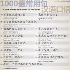 1000 Chinese Sentences In Daily Life - Part 20