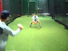 Baseball Fielding Drills - Baseball specific sports training drills and instruction to improve players of all ages and skill levels. Four Baseball Fielding Drills to be used indoors Softball Pitching Machine, Softball Drills, Softball Mom, Fastpitch Softball, Baseball Videos, Baseball Tips, Baseball Pictures, Baseball Mom, Baseball Training