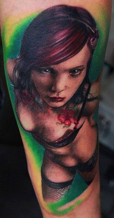 Realism Woman Tattoo by Florian Karg | Tattoo No. 2602