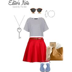 """""""Editor's Note: Saved By The Bell"""" by jerafashion on Polyvore"""