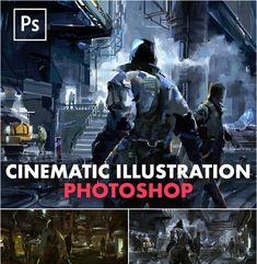 Cinematic Illustration Digital Painting in Photoshop Digital Painting Tutorials, Digital Art Tutorial, Art Tutorials, Digital Sculpting, Video Game Development, Lighting Techniques, Cg Artist, Storytelling, 3 D