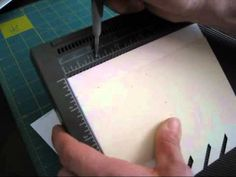 How to make a Lattice Card with your diagonal plate and simply scored tool. More info at www.frenchiestamps.com 3-16