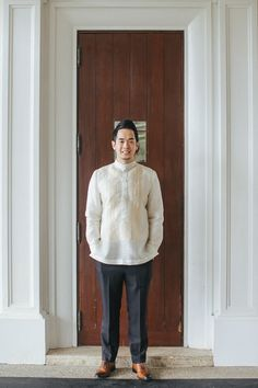 Cebu in the Philippines has always been a popular destination for weddings. As usual, Rock Paper Scissors … Barong Tagalog Wedding, Barong Wedding, Filipiniana Wedding Theme, Filipiniana Dress, Wedding Entourage, Wedding Suits, Wedding Attire, Wedding Prep, Wedding Blog