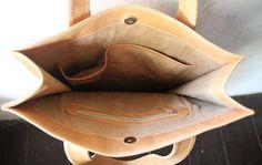 Leather Tote Bag CarryAll Shoulder Bag Laptop by SunriseNomad