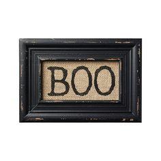 BOO! Printed Burlap Framed Wall Decor - Halloween