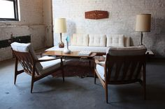 Modern Glamour!  Adrian Pearsall Mid Century Modern Platform Sofa 830-S (Craft Associates, U.S.A, 1950's) | by Kennyk@k2modern.com