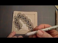 How to draw Heart Tangles Lesson #12 - YouTube