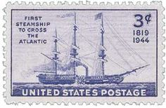 The first steam-propelled vessel to cross the Atlantic Ocean, the Savannah sailed from Savannah, Georgia, on May 22, 1819, and arrived in Liverpool, England, 29 days later.