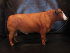 Breyer Red Angus Bull with Bald Face Excellent Condition | eBay