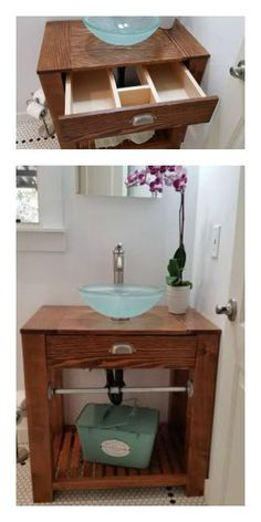 reclaimed wood farmhouse vanity do it yourself home projects from ana white bathroom. Black Bedroom Furniture Sets. Home Design Ideas