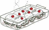 Komkommer kabeljauwfilet ovenschotel