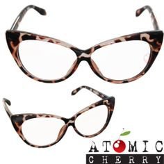 3c8b4e931ab8 50 s Cat Eye Clear Glasses Leopard Retro Rockabilly Pin Up Costume Grease