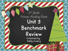 Does the 2nd Grade Pearson Reading Street series guide your reading lessons?  This engaging benchmark review was designed to help prepare your students for the Pearson Reading Street Unit 3 Benchmark test!  Click here to see what other 2nd grade Reading Street teachers have to say about this engaging reading resource and sit back and watch your students' benchmark scores increase!