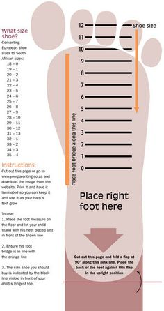 Kids Nike Printable Shoe Size Chart  Scope Of Work Template