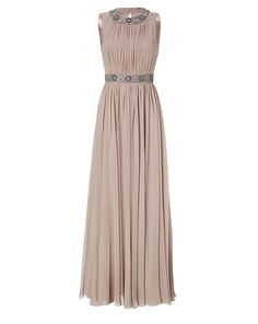 Jenny Packham 'nude silk evening dress' at Stylebop