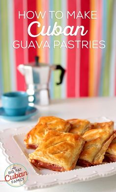 de Guayaba My Big Fat Cuban Family - How to make Cuban Guava PastriesMy Big Fat Cuban Family - How to make Cuban Guava Pastries Pastry Recipes, Cupcake Recipes, Dessert Recipes, Cooking Recipes, Dessert Ideas, Guava Recipes, Cuban Recipes, Spanish Recipes, Boricua Recipes