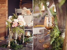 muted autumn color palette in flowers | Bohemian Glam Wedding Inspiration | Green Wedding Shoes Wedding Blog ...