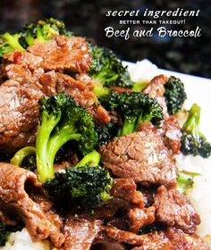Beef and Broccoli - better than take out!
