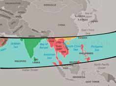 Mapa das monções na Ásia