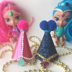 Excited to share the latest addition to my #etsy shop: Shimmer and Shine Birthday Hats / Mini party hats / Shimmer / Shine / Genie Birthday / Girl Birthday / Birthday hats / Shimmer & Shine http://etsy.me/2DCOXcO #papergoods #birthday #shimmer #shine #handmade #party