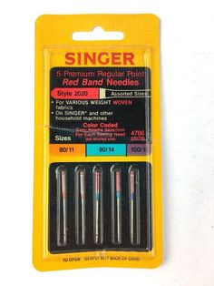 Assorted Sizes 10-Count SINGER 4790 Universal Regular Point Sewing Machine Needle