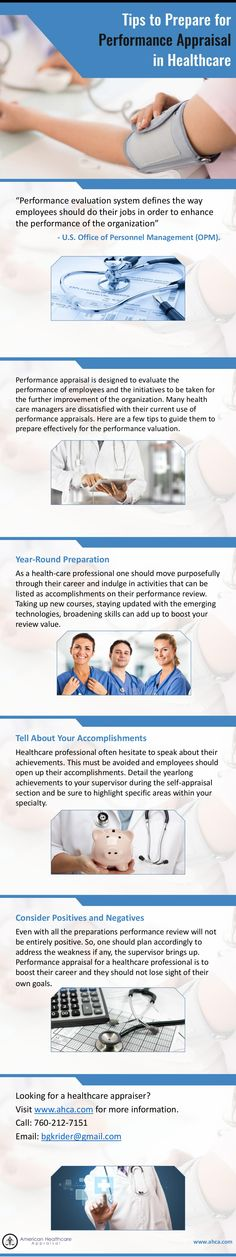 Tips to Prepare for Physician Practice Appraisal - Preparing for healthcare practice appraisal? Read now to learn about the tips and tricks to face your review session. Visit http://ahca.com/ for more information.