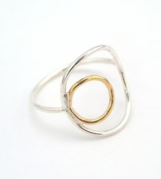 Gold & Silver Double Circle Ring