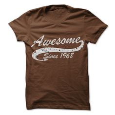 Awesome since 1968 T Shirts, Hoodies. Check price ==► https://www.sunfrog.com//Awesome-since-1968.html?41382 $19