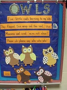 owls! @Shannon Williams Herrera I'm not sure what grade you teach but this is so stinkin' cute and it reminded me of your love for owls!
