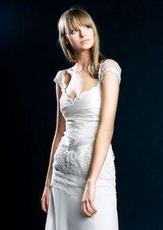 Suknia ślubna venika z szyfonu ivory - Romantic wedding dress