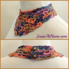 Beautiful free colorful #crochet necklace pattern from @jessie_athome