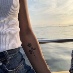 Rose Tattoo – Christina Falk - Tattoos for Couples,Tattoos for Women Mini Tattoos, Dream Tattoos, Cute Tattoos, Beautiful Tattoos, Tatoos, Smal Tattoo, Diy Tattoo, Tattoo Fonts, Tattoo Ideas