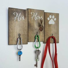 Check out this item in my Etsy shop https://www.etsy.com/listing/544803527/rustic-wooden-his-hers-key-organizer-key