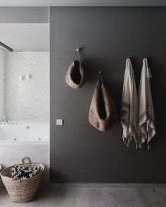 Bathroom Wall Inspiration | Functional Wall Hooks