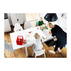 BJURSTA Extendable table IKEA Extendable dining table with 2 extra leaves seats makes it possible to adjust the table size according to. Bjursta Table, Extendable Dining Table, Ugly Kitchen, Ikea Shopping, Seaside Theme, Kitchen Family Rooms, Under The Table, New Living Room, Home Reno