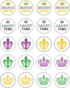 Free Mardi Gras Printables. Could be useful for the Mardi Gras Day party...