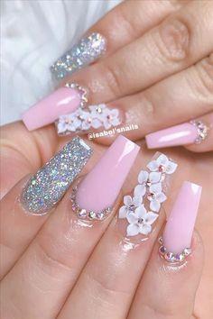Neon Pink Nail Polish, Acrylic Nails Coffin Pink, Pink Coffin, Fabulous Nails, Gorgeous Nails, Cute Nails, Pretty Nails, Peach Nails, Gel Nails