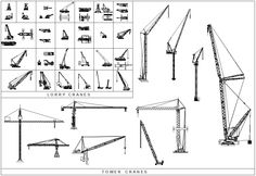 construction crane top view - Google Search