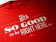 The Pretty Shirts, So Good to be Right Here, album.  Camiseta Roja.