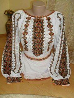 Polish Embroidery, Folk Embroidery, Cross Stitch Embroidery, Embroidery Patterns, Floral Embroidery, Modelos Pin Up, Bordado Popular, Palestinian Embroidery, Tropical Dress
