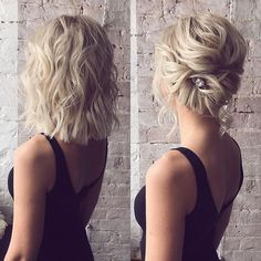 Hairstyle for short hair😍 At the same time, here ... - Mother-of-the-Bride Hairstyles 2019 - #Hair #Hairstyle #Hairstyles #MotheroftheBride #Short #time