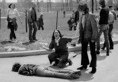 This is the  iconic photo of Mary Ann Vecchio at Kent State University wailing over the body of a student who had been gunned down by the US military on May 4, 1970. John FILO, the photographer, won A Pulitzer for this. Tthe photo was later manipulated to remove a distracting pole coming from behind Vecchio by another person. Time magazine and others published the modified photo.  Does the pole really matter when the real focus is eh tragedy and the dead student?