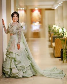 Indian Wedding Gowns, Indian Bridal Outfits, Indian Gowns Dresses, Indian Bridal Lehenga, Pakistani Bridal Wear, Bridal Dresses, Wedding Lehenga Designs, Designer Sarees Wedding, Designer Party Wear Dresses