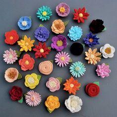 CUSTOM Single Felt Flower Magnet 100% Wool Felt